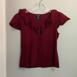 Chaps Burgundy top size PM